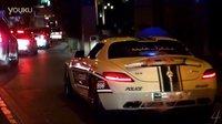 让你嘚瑟!迪拜警察驾奔驰 SLS AMG 拦截扣罚 土豪 Range Rover