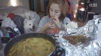 【韩国吃饭直播】绝对是你们的爱。只吃饭不说话的妹子。香香香!